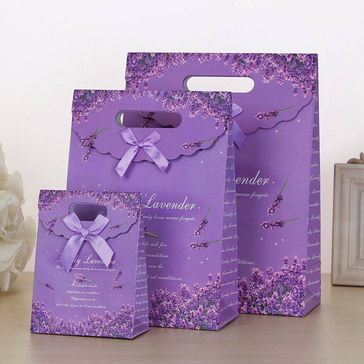 Candy color paper gift shopping cheap small paper gift bags with handles