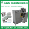 CE Standard Small Paper Lunch Box Making Machines with PLC Control