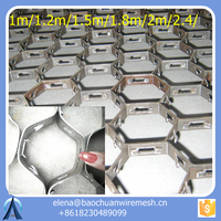 stainless steel refractory hex grid mesh