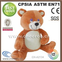 Plush Material and bear Type plush sleeping bear toys
