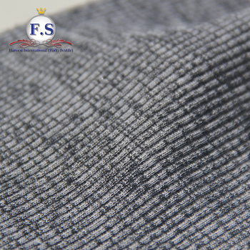 95/5 Cationic Polyester/ elastan 2X2 rib cable knit fabric sweater fabric