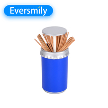 Practical plastic holder box plastic automatic toothpick container with lid