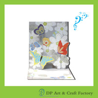 Beautiful greeting card pop up card 3d card with sound
