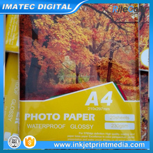Premium High Glossy 260gsm Microporous RC A4 Photo Paper for Ink Jet Printer