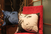 poly/cotton blended printing cushion cover