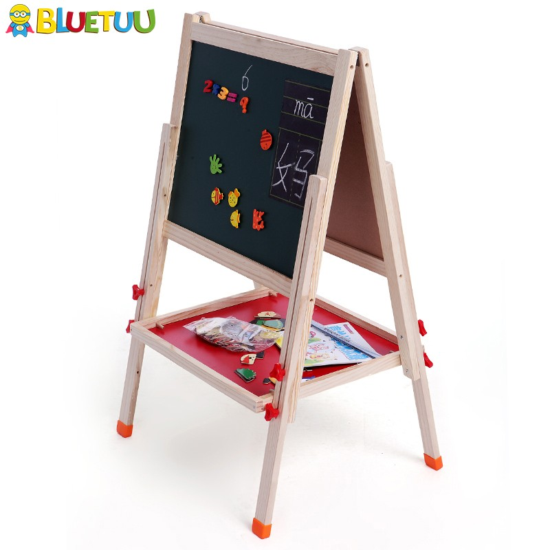 For child educational magnetic wall chalkboard with Paint Cups