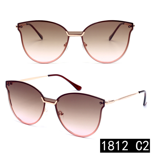 2018 new product custom logo PC uv400 fashion stainless frame high quality mirror women unique butterfly sunglasses