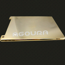 Factory,high Quality for ipad 5 24k gold housing back cover mirror finish,mirror housing for ipad