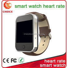 Smart watch sync to cellphone with heart rate monitor, bluetooth Android smart watch and phone with water resistance
