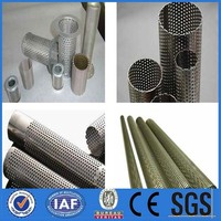 Stainless Steel perforated Mesh Screen filter Tube