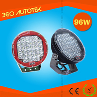 2015 New 9inch red black cover work lamp 4wd Offroad 96W led driving light