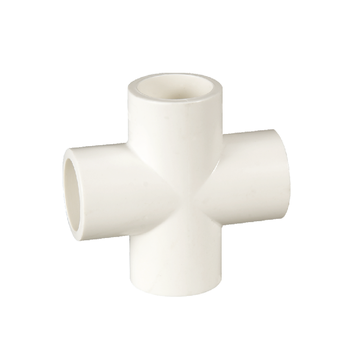 "ERA ASTM D2466 1/2-2"" PVC Pipe Plumbing Fittings Cross Cruz with NSF Approval"