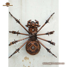 Life size outdoor garden decorative metal sculpture spider statue for sale
