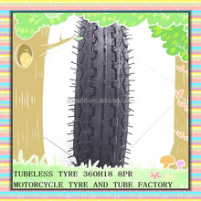 Chinese motorcycle tires motorcycle for sale 360H18 with Reasonable price
