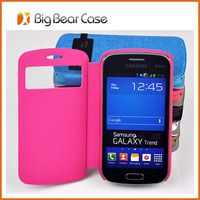 oem leather case for samsung galaxy trend lite gt-s7390 / fresh duos gt-s7392