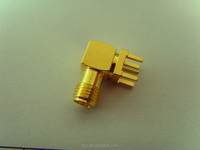 SMA Female Connector, angled, 50 Ohm, for PCB, RoHS