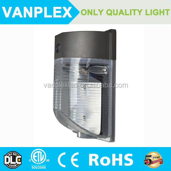 Vanplex 18w/25w DLC mini led wall pack 4000K natural white outdoor wallpack light
