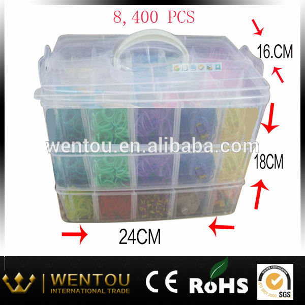 Hot sale DIY silicone crazy loom bands wholesale loom bands kit