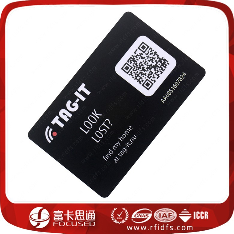 Free Sample RFID NTAG215 Black PVC Card For Payment