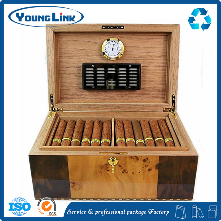 High Quality custom specialty cigar moist air cabinet wooden box