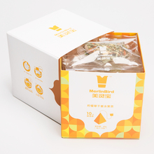 triangle tea bag, lemon grass dried ginger fruit tea