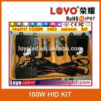 Good Price 100W hid xenon kit 12V DC xenon super vision hid kit h7