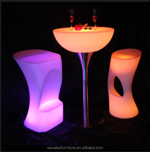 Popular Luminous illuminated led furniture portable glowing led bar table