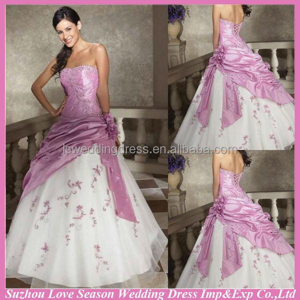... de la Chine robe de mariee blanche et rose Grossistes en ligne