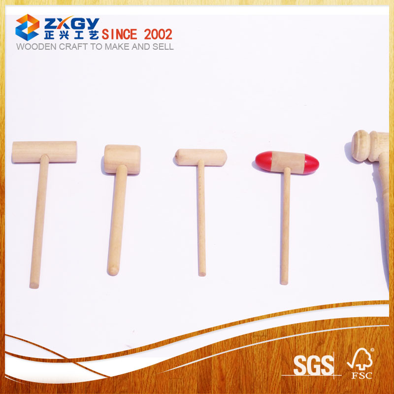 Mini Rubber Mallet and wooden hammer for chocolate