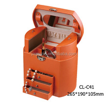 Alibaba china supplier luxury leather jewelry case
