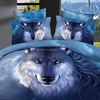 High Quality Unique Wolf Printed 3D Oil Painting wolf print bedding