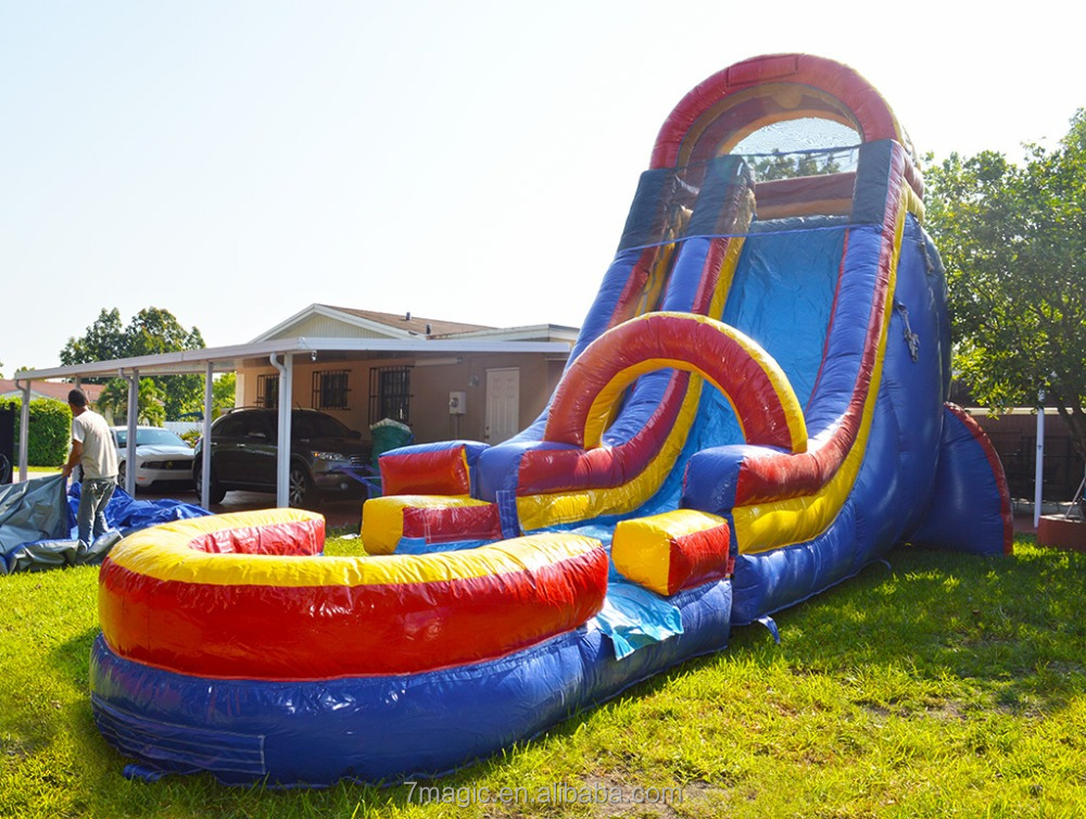 20ft Rainbow Screamer Inflatable Slide, Water Slide for sale