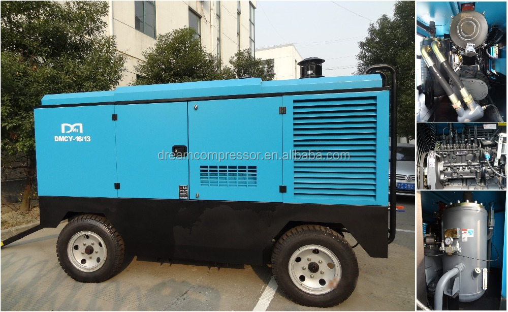 Professional Cheap Portable Mobile Diesel Air Compressor