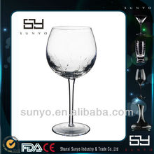 Wholesale High Quality Handmade Wide Mouth Goblet Wine Glass for Barware