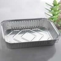 rectangular aluminum foil container/tin food container/tray/plate/lunch box/large/roaster/pizza/bbq pan #7004-7217