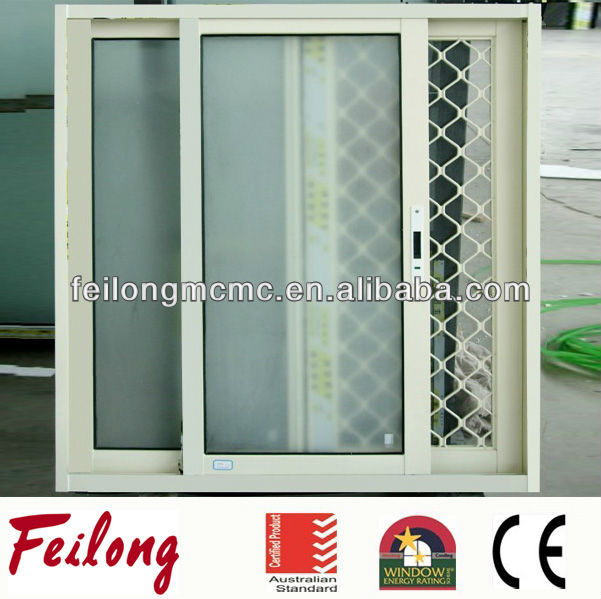 Exported AS2047 aluminium security mesh sliding window