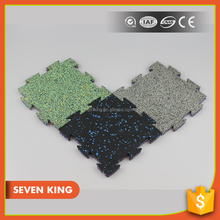 Qingdao 7king cost price 10mm thickness custom shape rubber floor mat pad with high quality