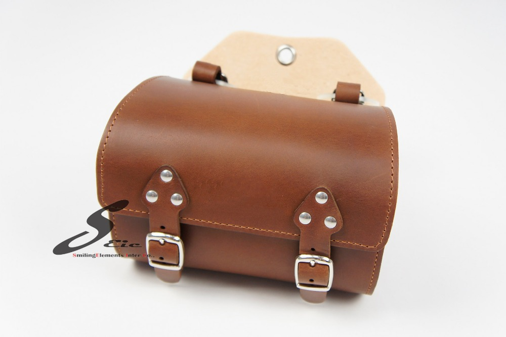 New Design Bike Accessory OEM Leather Bicycle Saddle Bag