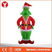 Hot outdoor inflatable christmas grinch with LED light for sale