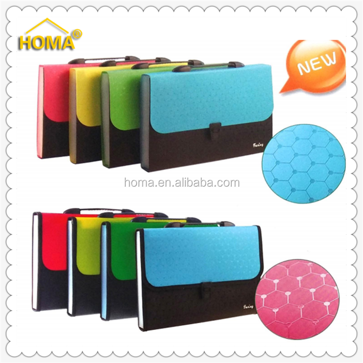 A4 high quality PP Elastic Expanding File Folder Bag