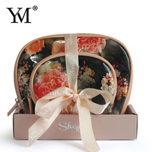 2017 New Arrival custom cosmetic PVC toiletry make-up bag for gift