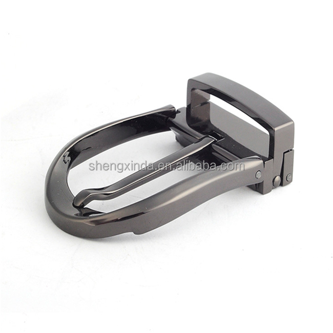 cheap zinc alloy gun color plating custom belt buckle