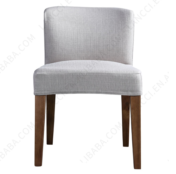 High quality dining room use white solid wood upholstered dining <strong>chairs</strong>