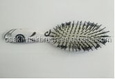 print cushion hair brush with the plastic handle , new design osaki hair brush