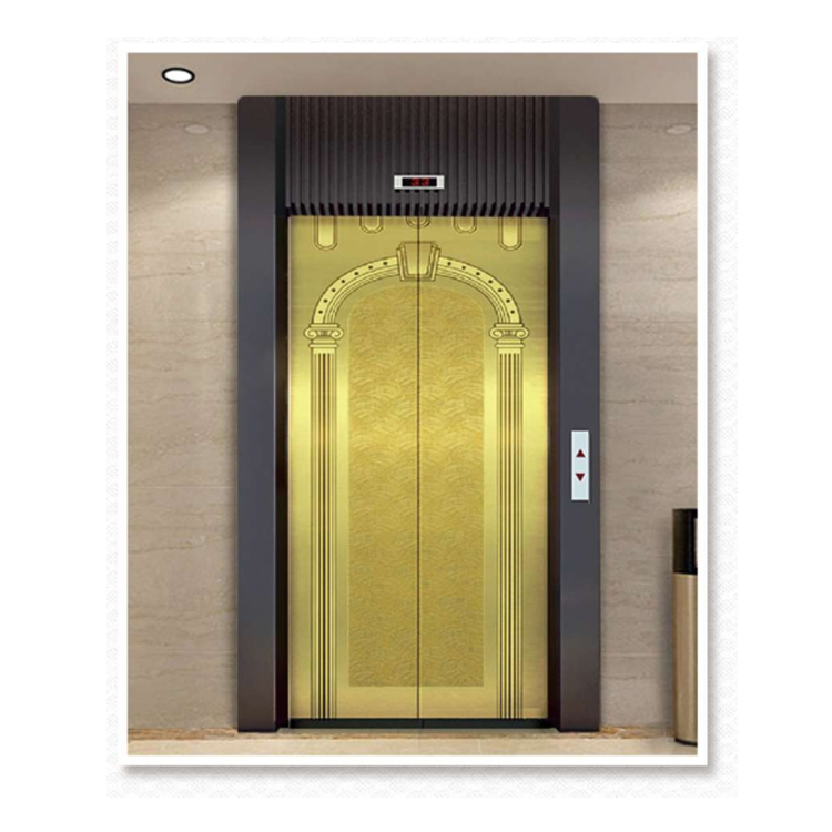 champagne gold colored 304 mirror Stainless Steel Sheet <strong>Passenger</strong> elevator door parts