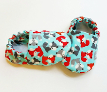 Fox Baby Slippers Personalized Shoes Monogrammed Baby Booties