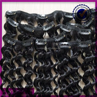 short length Dubai vendors not tangle 8 inch clip-in human hair extensions