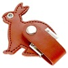 Alibaba Stock Price Animal Shape Gift 8gb Leather Case Usb Flash Drive