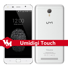 Original Umi Touch Touch Mobile Phone MTK6753 Octa Core 3GB RAM 16GB ROM Smartphone Fingerprint ID 4G LTE Android 6.0 Cell Phone