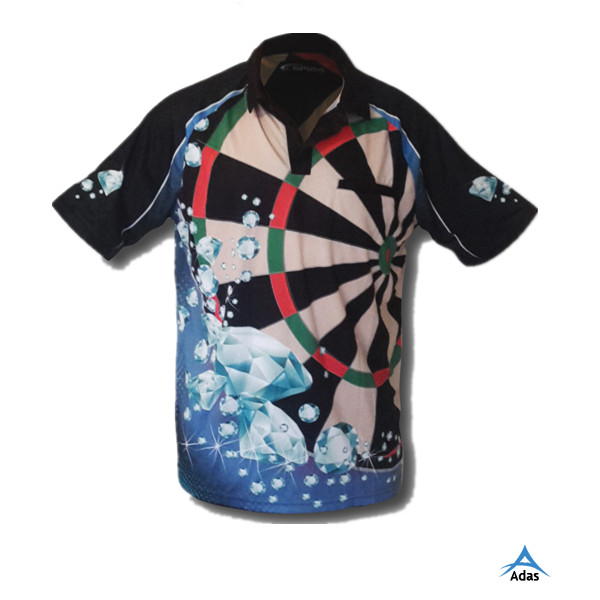 men's sublimated printing customized dart t-shirt